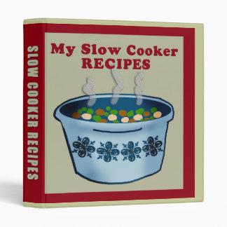 Slow Cooker Recipes Binder