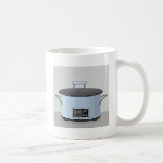Slow cooking crock pot vector coffee mug