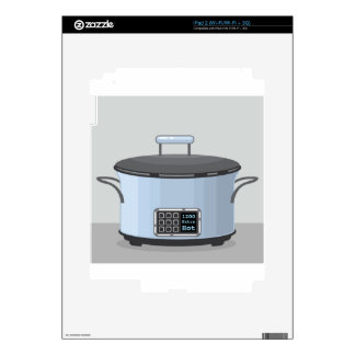 Slow cooking crock pot vector decal for iPad 2