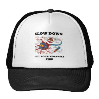 Slow Down Let Your Synapses Fire Neuron / Synapse Mesh Hats