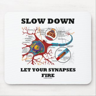 Slow Down Let Your Synapses Fire Neuron / Synapse Mouse Pads