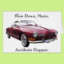 Slow Down Mario Accidents Happen Get Well Card