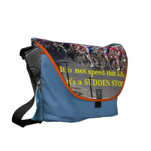 Slow down messenger bag