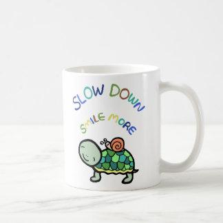 Slow down smile more slow life turtle snail mug