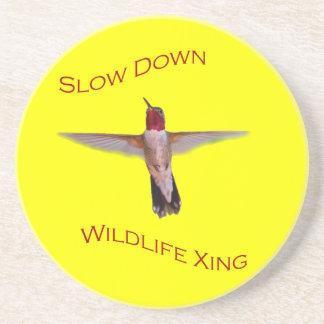 Slow Down Wildlife Crossing Coasters