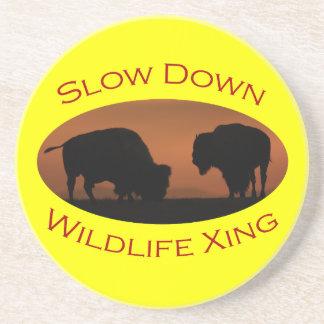 Slow Down Wildlife Crossing Coaster