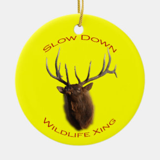 Slow Down Wildlife Crossing Christmas Ornaments