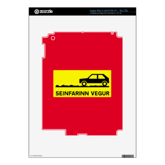Slow Driving Only Traffic Sign Iceland iPad 3 Skin