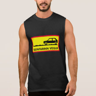 Slow Driving Only, Traffic Sign, Iceland Sleeveless Shirt