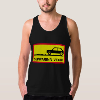 Slow Driving Only, Traffic Sign, Iceland Tank Top