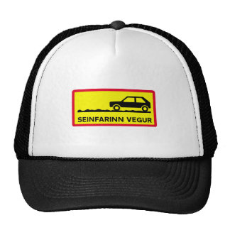 Slow Driving Only, Traffic Sign, Iceland Trucker Hat