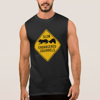 Slow Endangered Squirrels, Warning Sign, Maryland Sleeveless Shirt