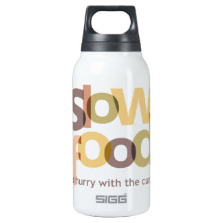 Slow Food 10 Oz Insulated SIGG Thermos Water Bottle