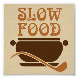 Slow Food Kitchen Poster