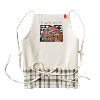 """""""Slow food. Made with love."""" Apron Supports Mums Zazzle HEART Apron"""