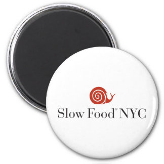 Slow Food NYC logo products 2 Inch Round Magnet