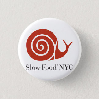 Slow Food NYC logo products Pinback Button