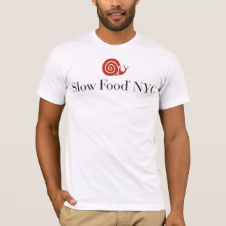 Slow Food NYC logo shirt