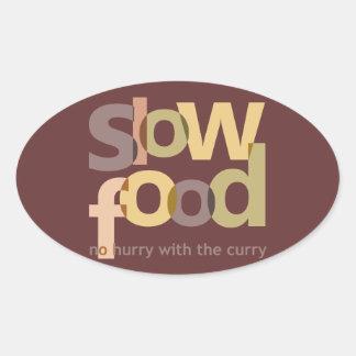 Slow Food Oval Sticker
