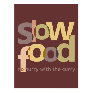 Slow Food Postcard