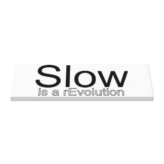 Slow Is a reEvolution Canvas
