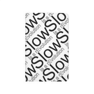 Slow Is a rEvolution Pocke Journal | Black White