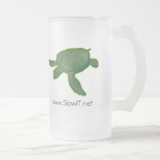 Slow IT drinkware 16 Oz Frosted Glass Beer Mug