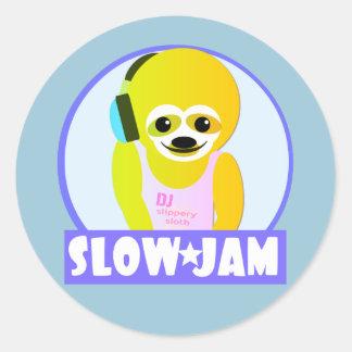 Slow Jam Classic Round Sticker