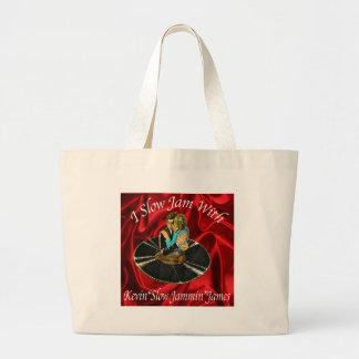 Slow Jam Logo Large Tote Bag