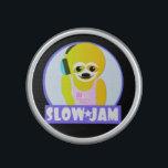 "Slow Jam Speaker<br><div class=""desc"">cute DJ sloth character speaker - Because nothing is slower than DJ Slippery Sloth</div>"