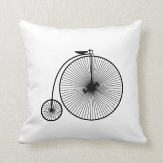 Slow living because the velocipede is slow. throw pillow