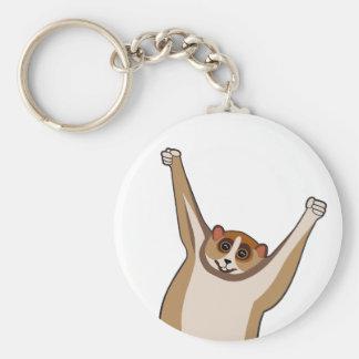 Slow Loris Tickle 1 Basic Round Button Keychain