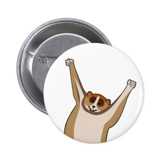 Slow Loris Tickle 1 Pinback Buttons