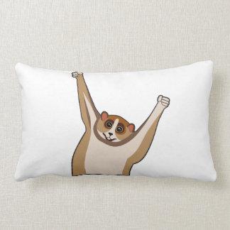 Slow Loris Tickle 1 Throw Pillows