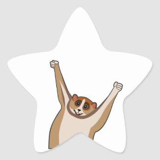 Slow Loris Tickle 1 Star Sticker