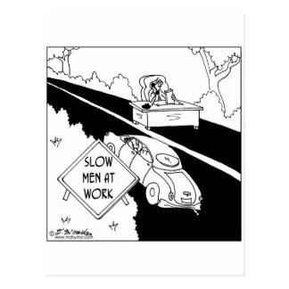 Slow Men at Work Postcard