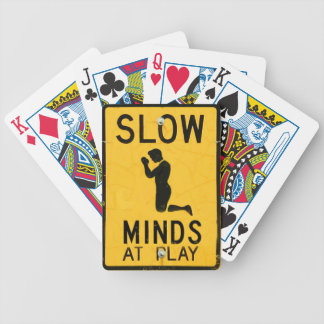 Slow Minds at Play - Funny Anti-Religion Design Bicycle Playing Cards