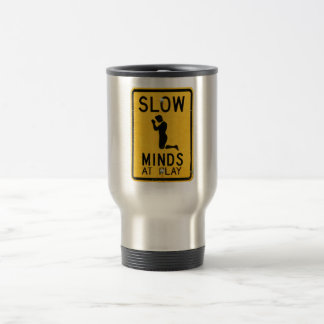Slow Minds at Play - Funny Anti-Religion Design Coffee Mug
