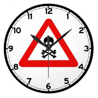 Slow Minefield (1), Traffic Sign, UK Large Clock