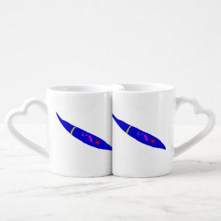 Slow Move Blue Chili Coffee Mug Set