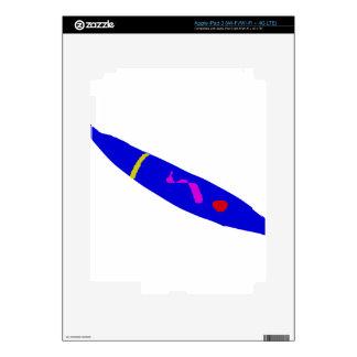 Slow Move Blue Chili iPad 3 Skin