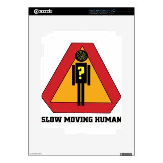 Slow Moving Humans Sign design iPad 2 Skin