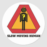 Slow Moving Humans Sign Sticker