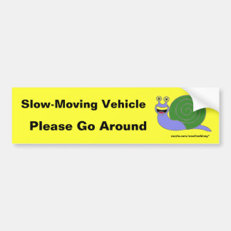 Slow-Moving Vehicle Bumper Sticker