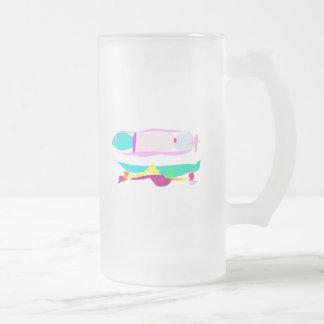 Slow 16 Oz Frosted Glass Beer Mug
