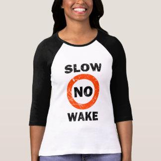 SLOW NO WAKE Grunge Style Tee Shirt
