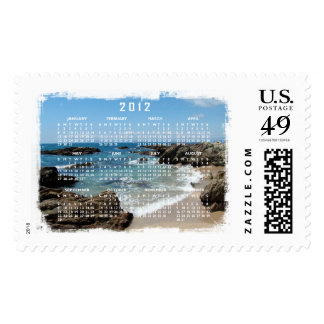 Slow Pacific Waves; 2012 Calendar Postage