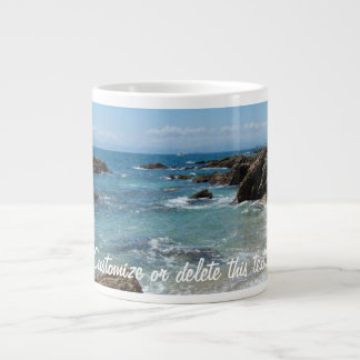 Slow Pacific Waves; Customizable Giant Coffee Mug