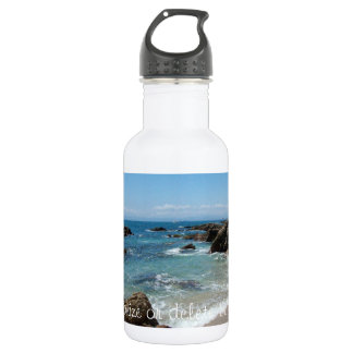 Slow Pacific Waves; Customizable 18oz Water Bottle