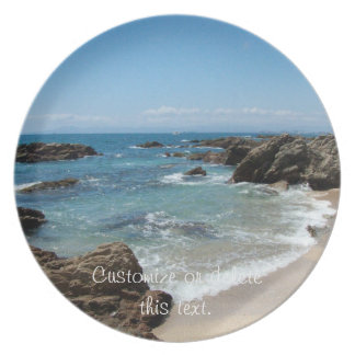Slow Pacific Waves; Customizable Plate